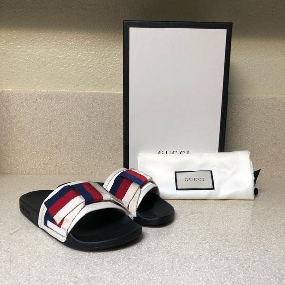 Gucci Shoes - Gucci Pursuit Bow Slide Sandal Sz 35 / 5